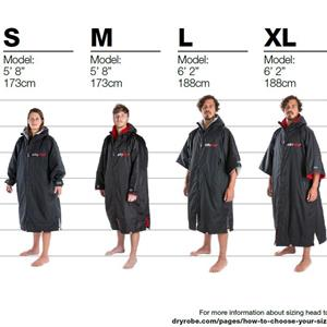 DRYROBE - Long Sleeve M. Black/Red