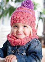 Mössa och halsduk till barn i  Josie