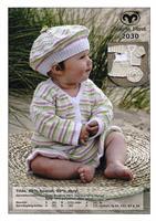 Babykofta, klänning o mössa i Tilda