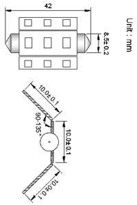 Spollampa SMD9 42mm