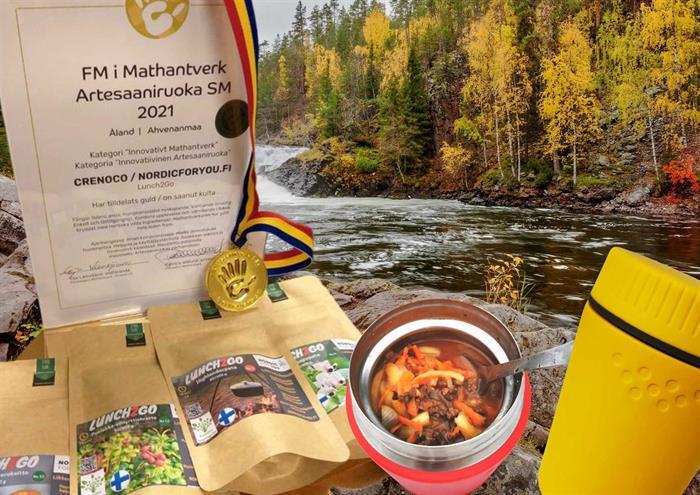 Kultaa Artesaaniruoka 2021 SM -kilpailuissa Lunch2Go -tuotesarjalle
