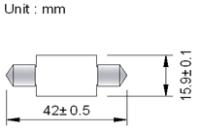 Spollampa SMD6 42mm