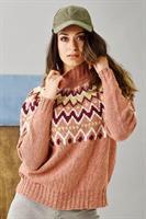 Mönstrad damsweater i Luna