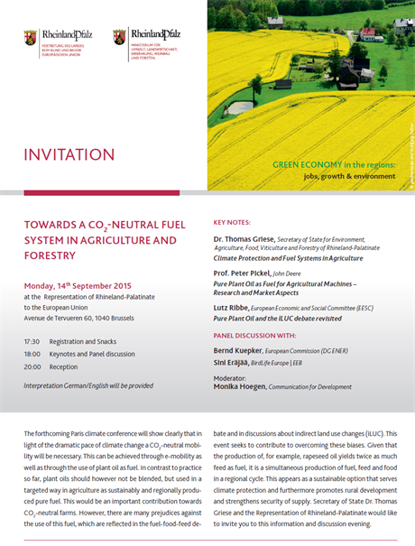 Towards a CO2-Neutral Fuel System in Agriculture and Forestry