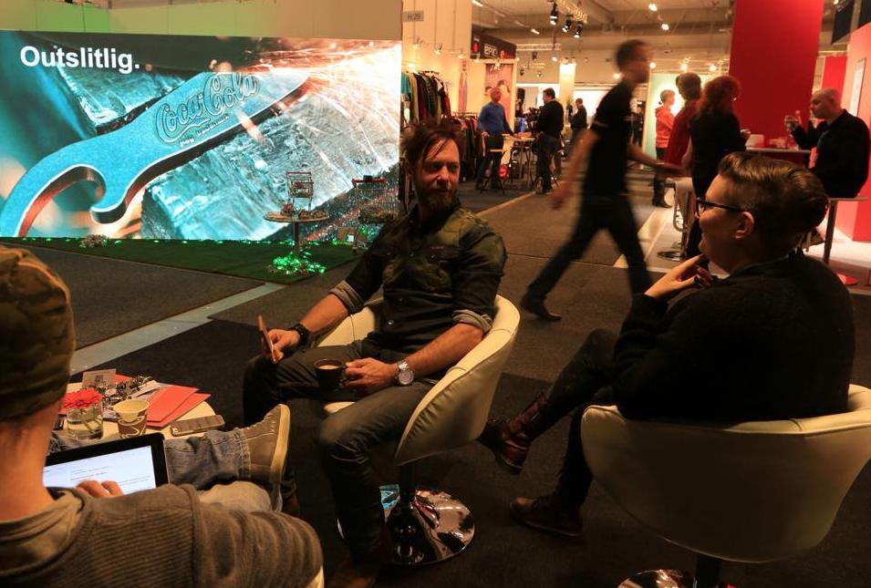 ECO keyrings - monter 4m x 2m, Promotionmässan