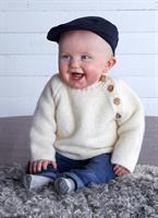 Rätstickad babytröja i Baby Merino
