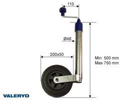 Stödhjul 48mm fullgummihjul