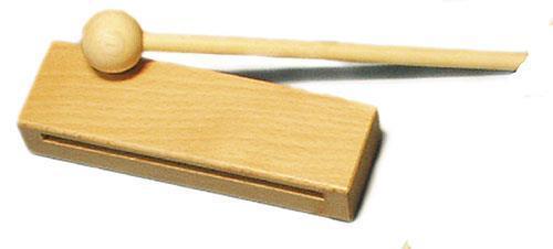 Träblock i bok m. klubba