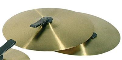 Cymbaler m. läderstr. 25 cm