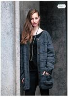 Oversize cardigan i Renew Wool
