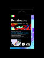 Akvarellinapit 24 väriä, Renaissance