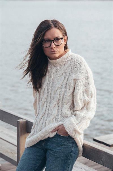 Stor genser med fletter