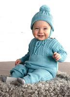 Flätstickat babyset i Baby Merino