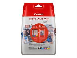 Canon CLI-571XL C/M/Y/BK+Photo paper PP-201 50 st