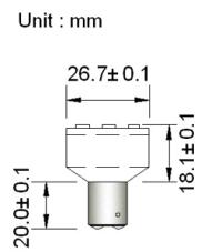 BA15d SMD6 spot