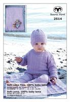 Babytröja och mössa i Soft Lama Fine