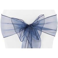Sløyfebånd mørk blå