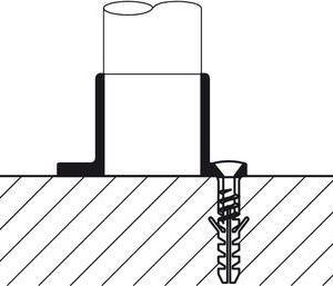 Rörhållare krom 25mm väggmonterad