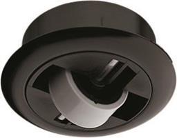 Fixed castor pl.black 54mm