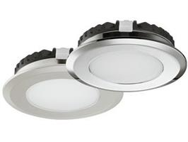 Spotlight 12v 58mm ip55 krom 2,5w