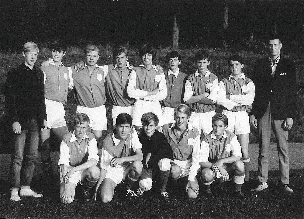 Hovslätts juniorlag i fotboll ca 1967