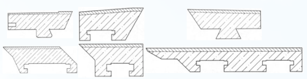 Blade models for forming section (other models available).