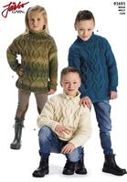 Barntröja med flätor i Luva eller Ronja
