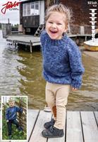 Barntröja med raglanärm i Järbo Ylle