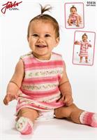Babyklänning, kofta o sockor i Soft Raggi