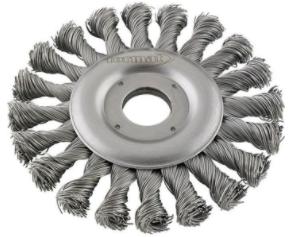 Cirkulärborste Rostfri 125mm Tvinnad