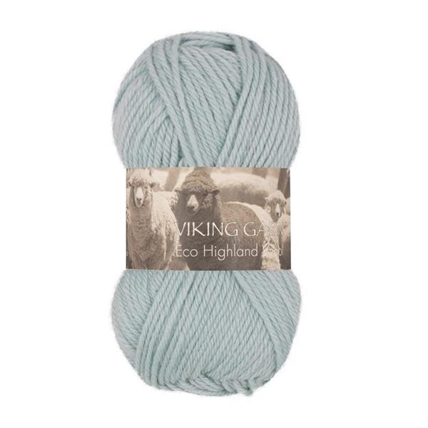 V Highland Eco Wool ljus turkos