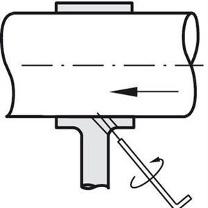 Rörhållare 25mm rostfri borstad öppen