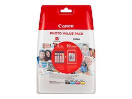 Canon CLI-581XL C/M/Y/BK+Photo paper PP-201 50 st