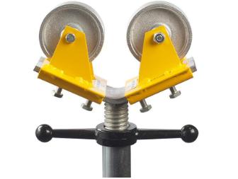 Stålhjul rostfritt till trebens rörstöd (Par)