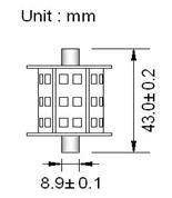 Spollampa Barrel SMD30 43mm