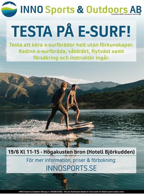 TESTA-PÅ-DAG VID HÖGA-KUSTENBRON LÖRDAG 19 JUNI KL 11-15!