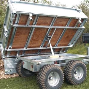 Tippvagn trevägs hydraulisk