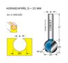 Kornischfräs D=20, L=20mm