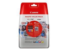 Canon CLI-551XL C/M/Y/BK+Photo paper PP-201 50 st