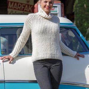 'PATSY' – Patentstrikket genser i llama soft