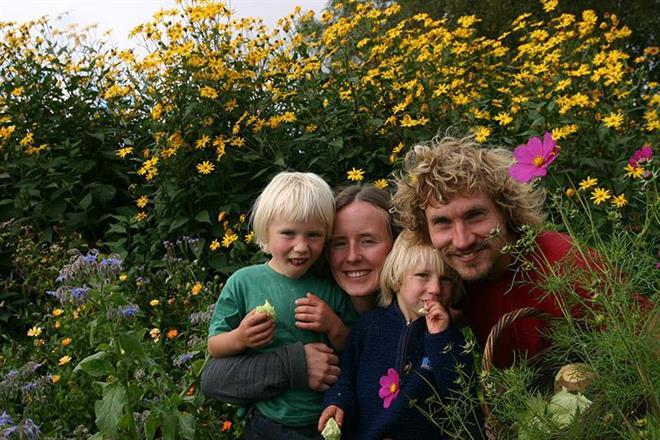 Blommande land i sommartider