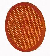 Reflex orange rund självhäftande