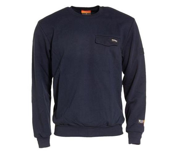 Tranemo Sweatshirt Flamskydd, Marin Stl XS
