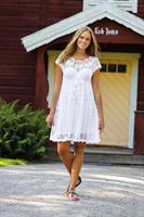 Søt kjole i bomull med hjerter