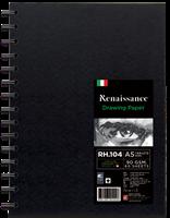Kovakantinen piirustuslehtiö RH-104. A5, 60 arkkia, 90g