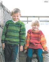 Slätstickade tröjor till barn