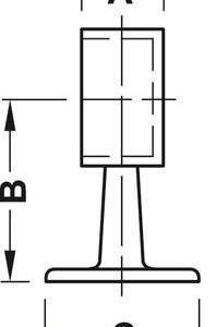Rörhållare RF Sluten 38,1mm