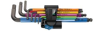 Wera 950/9 Insexnycklar Multicolour med kula