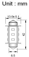 Spollampa SMD12 42mm