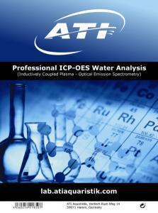 ATI ICP-OES Water Analysis